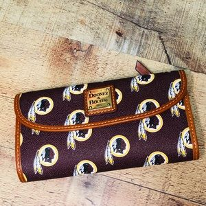 Dooney & Bourke Bi fold NFL Redskins Wallet